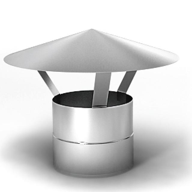 Зонт нержавейка для одноконтурной трубы