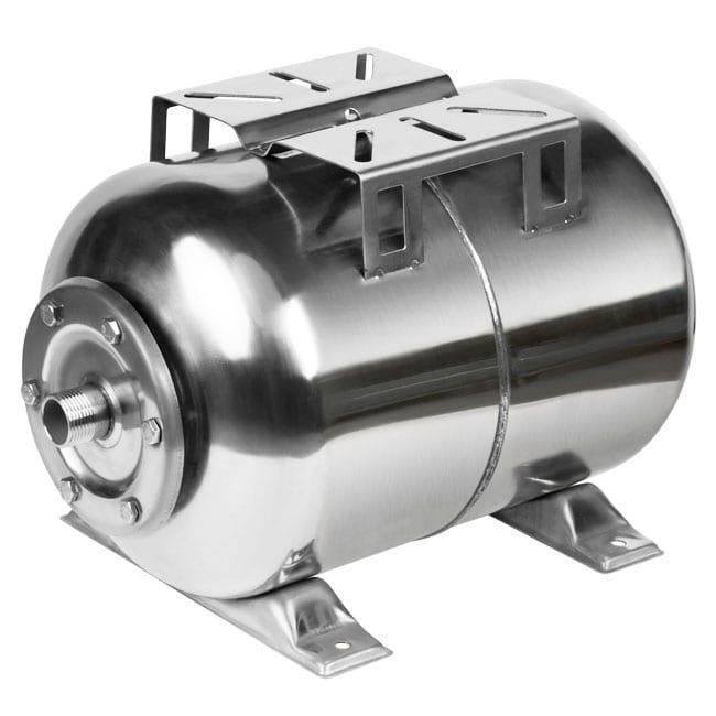 Гидроаккумулятор Unipump H 100 S нерж. сталь (горизонтальный)