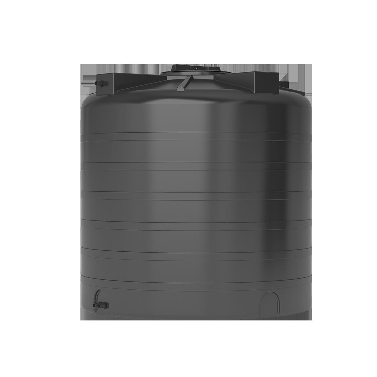Пластиковый бак для воды Акватек ATV 1000 (черный) с поплавком