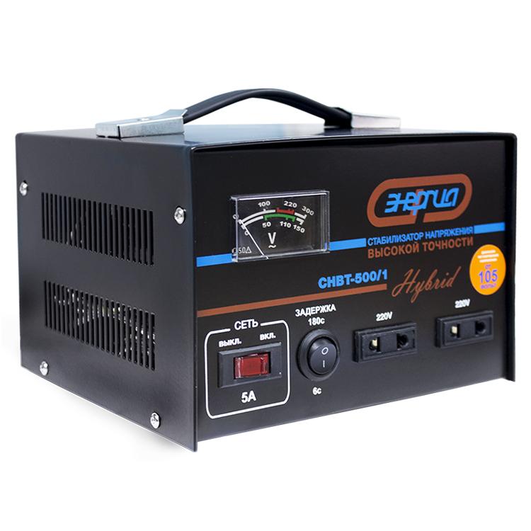 Стабилизатор напряжения Энергия Hybrid CНВТ-500/1