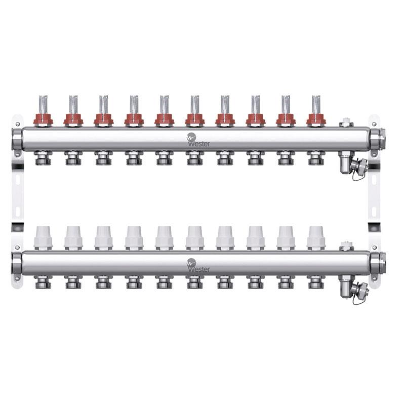 Коллекторная группа Wester W902 1″×10 контуров
