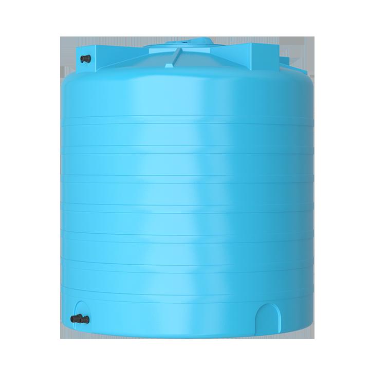 Пластиковый бак для воды Акватек ATV 1500 (синий) с поплавком