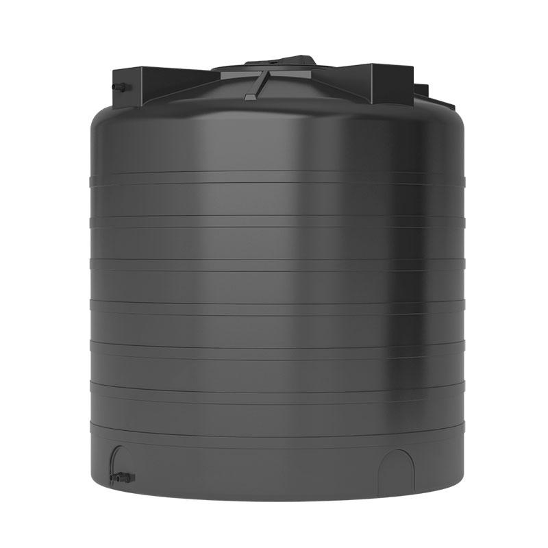 Пластиковый бак для воды Акватек ATV 1500 (черный) с поплавком