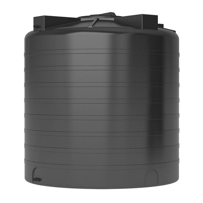Пластиковый бак для воды Акватек ATV 2000 (черный) с поплавком