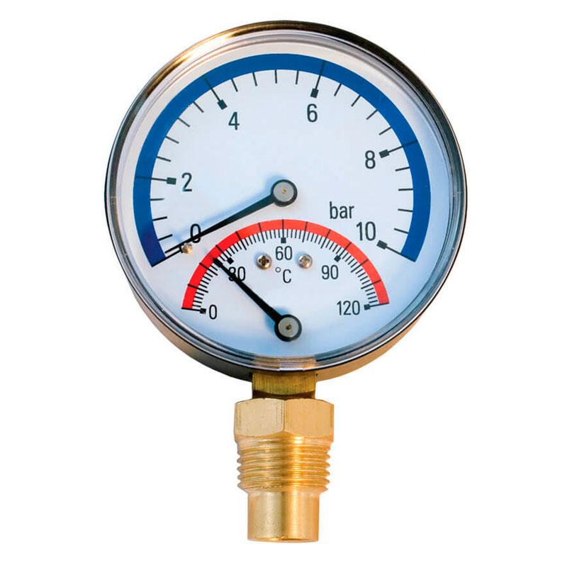 Термоманометр Millennium радиальный (4 бара, 80 мм)