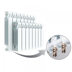 Биметаллический радиатор Rifar Monolit Ventil 500 9 секций, левое