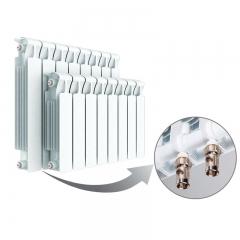 Биметаллический радиатор Rifar Monolit Ventil 500 11 секций, левое