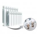 Биметаллический радиатор Rifar Monolit Ventil 350 8 секций, левое