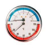Термоманометр Millennium аксиальный (16 бар, 80 мм)