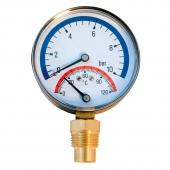 Термоманометр Millennium радиальный (16 бар, 80 мм)