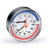Термоманометр Watts F+R818 аксиальный (4 бара, 80 мм)